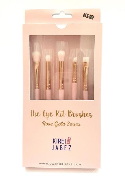 Kirei Jabez The Eyekit Brushes Rose Gold Series