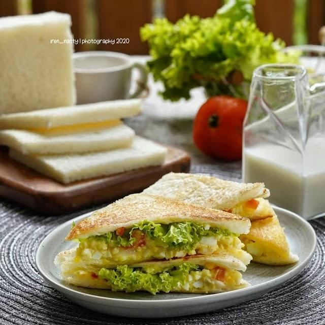 Begini Cara Gampang Membuat Sandwich telur mayo