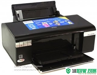 How to reset flashing lights for Epson R295 printer