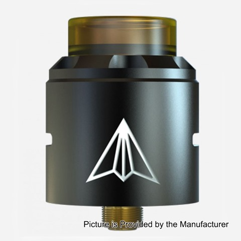 authentic-hotcig-aircraft-rda-rebuildable-dripping-atomizer-w-bf-pin-black-stainless-steel-24mm-diameter