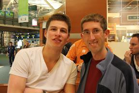 Me with Dutch gold medallist speed skater Sven Kramer at Vancouver airport