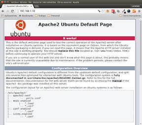 Instalar LAMP en Ubuntu. Apache en funcionamiento.