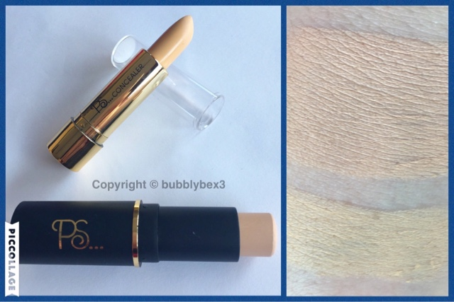 close ups and swatches of primark beauty foundation and concealer sticks