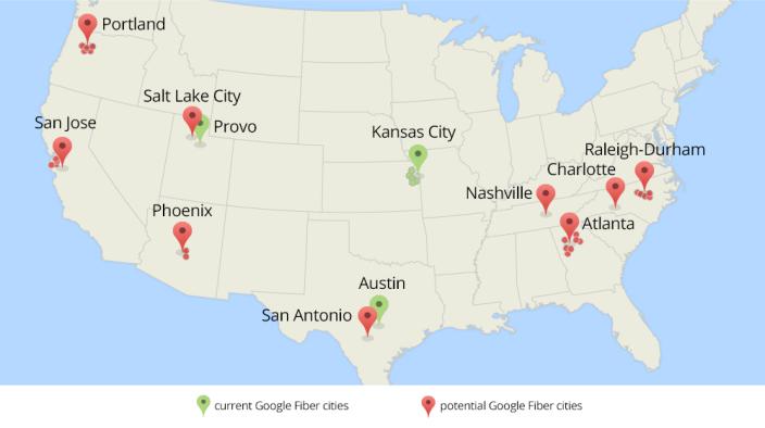 Google Fiber Citys