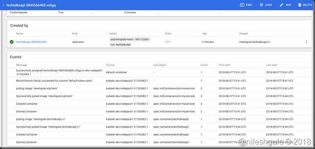 tech talks API detailed events