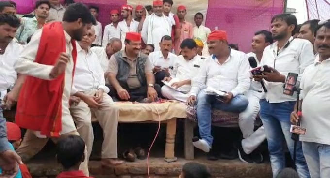 बूथ मजबूती के लिए दीपनारायण सिंह गांवों में बैठक कर बनाई कार्ययोजना