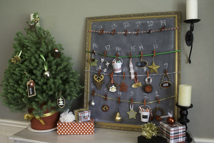 Chalkboard Ornament Advent Calendar  11 of 14
