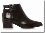 Geox cut out back buckle ankle boot