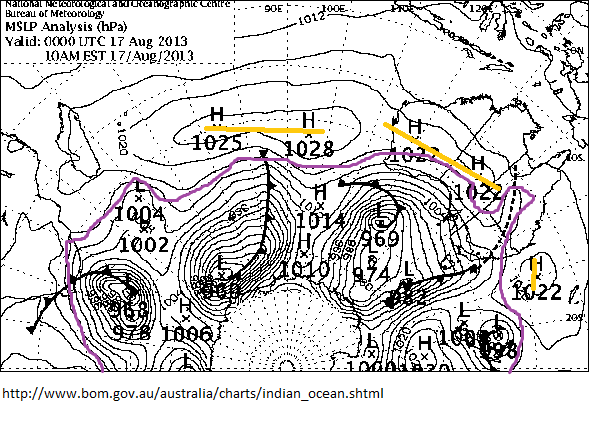 17th Aug 2013 SH synoptic