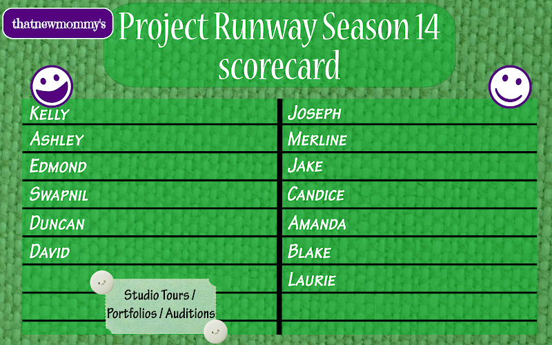 Project Runway Season 14 Scorecard - Auditions