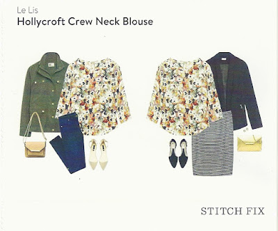 Stitch Fix March 2016 - Le Lis Hollycroft Crew Neck Blouse
