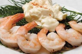Γαρίδες βραστές,boiled shrimp.