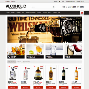Alcoholic Beverage Store PrestaShop #50670