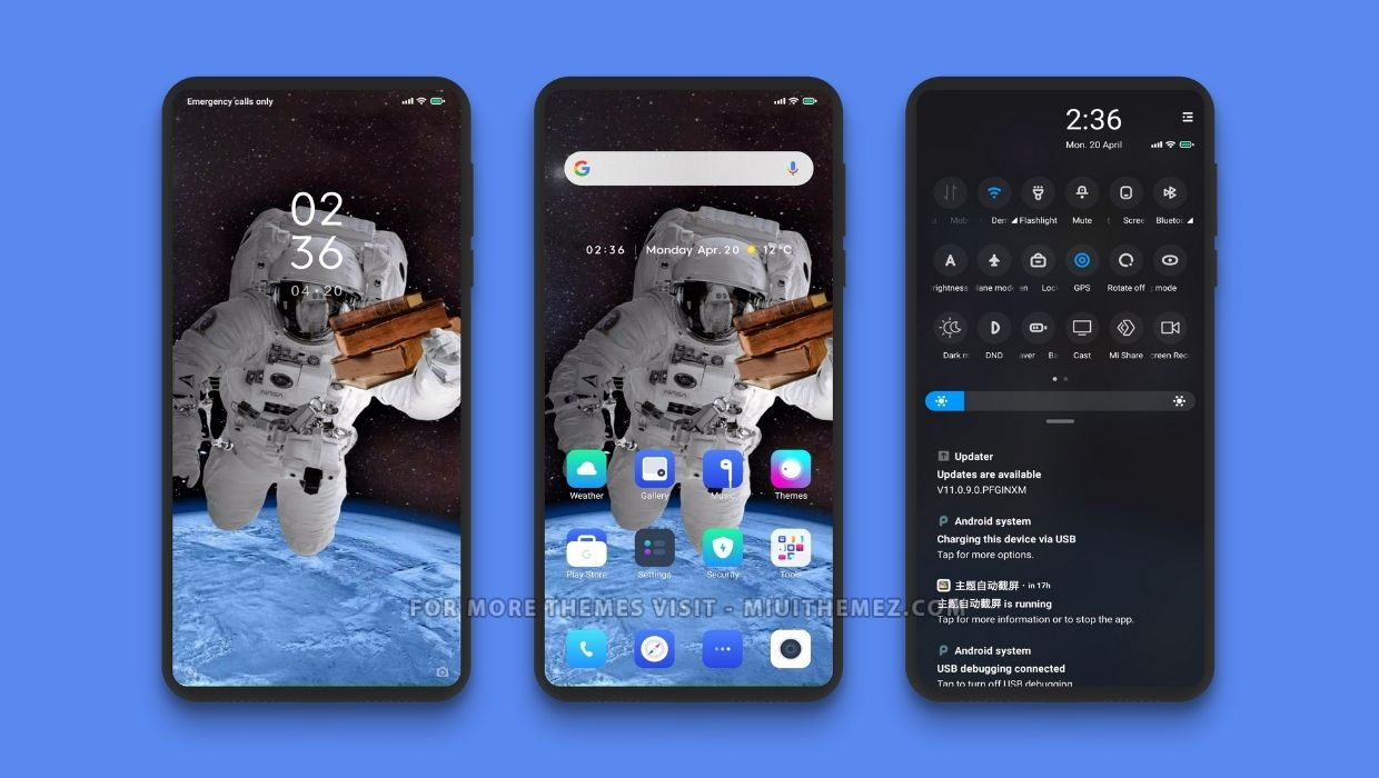 Astronout Book MIUI Theme