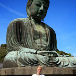 posing once more with the daibutsu in Kamakura, Kanagawa, Japan