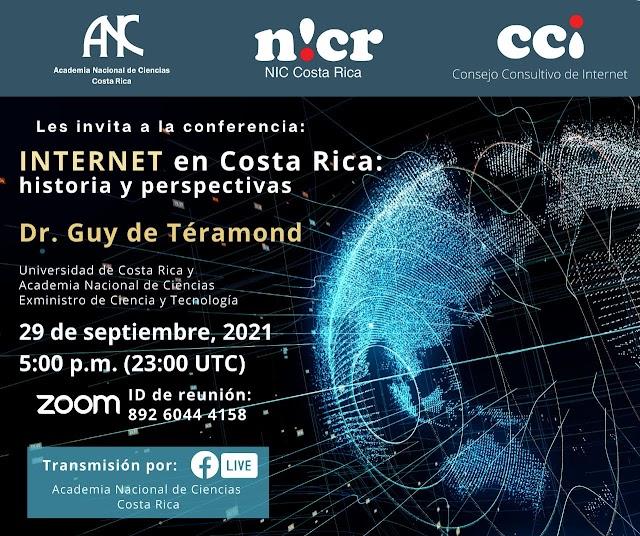 Invitación a la conferencia: INTERNET en Costa Rica: historia y perspectivas
