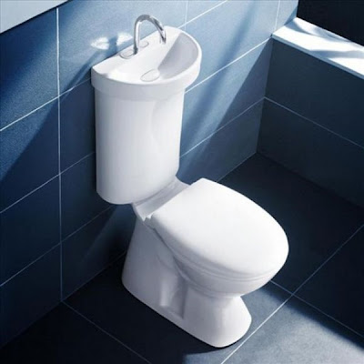 Australian manufacturer Caroma created this  Profile Smart 305  sink toilet  model  Not only does it reuse the sink s water in the toilet  but it has  two. Tiny Ass Apartment  We re sinking   Five sink combos that save