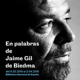 Exposición sobre Jaime Gil de Biedma en la Biblioteca Nacional