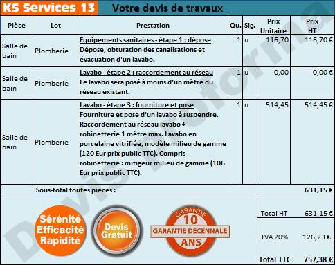 Ks Services 13 Prix Devis Pose D Un Lavabo A Suspendre