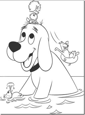 Clifford el gran perro rojo para colorear | Colorear dibujos infantiles