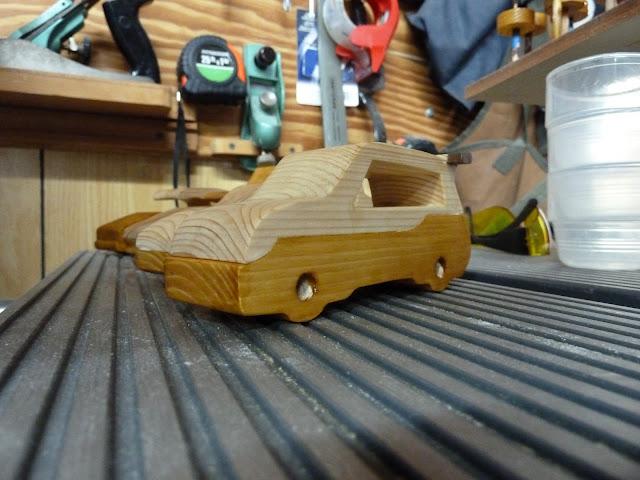 Handmade Wooden Toy Car Hot Rod Roadster Mini Van From The Speedy Wheels Series