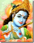 [Krishna with flute]