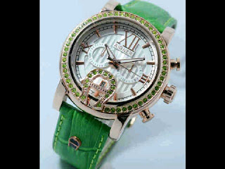 Jual jam tangan Aigner romawi green leather