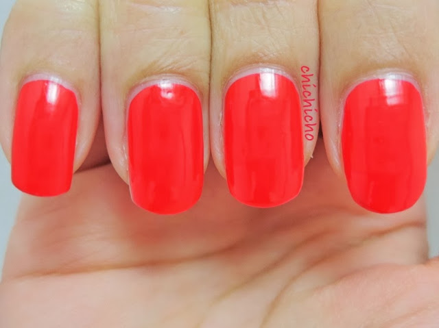 Saem Global Eco Red Nail Polish Swatch Nail Art