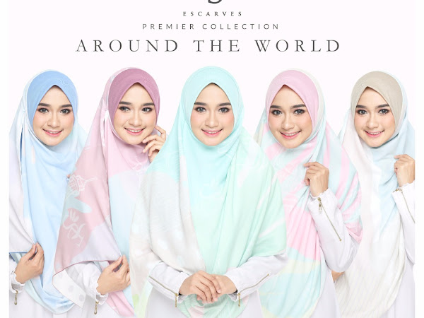 Tudung Labuh Koleksi Around The World (ATW) ESCARVES