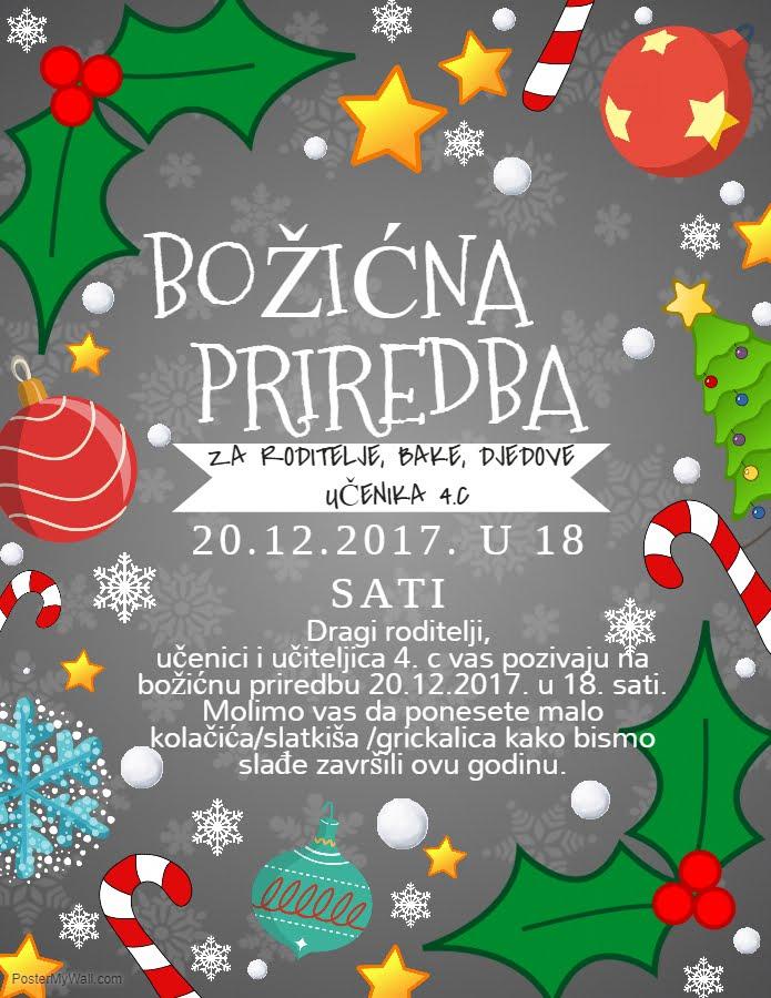 božićna čestitka ppt Božićna priredba   4.c Pčelice božićna čestitka ppt
