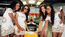 Sahara Force India F1 Team Speed Divas  #masterblaster tribute to the legendary crickerter Sachin Tendulkar