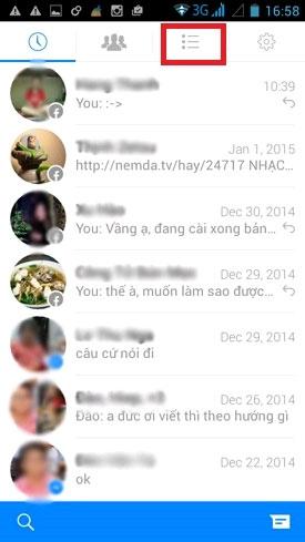 bước 1 ẩn nick Facebook Messenger trên Android