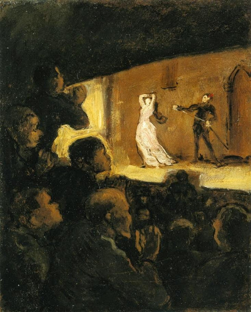 Honoré Daumier - At the Theater