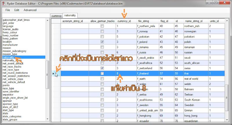 Modify ค่าเงินใน DiRT 2 ให้เป็นค่าเงินไทย D2cost04-1
