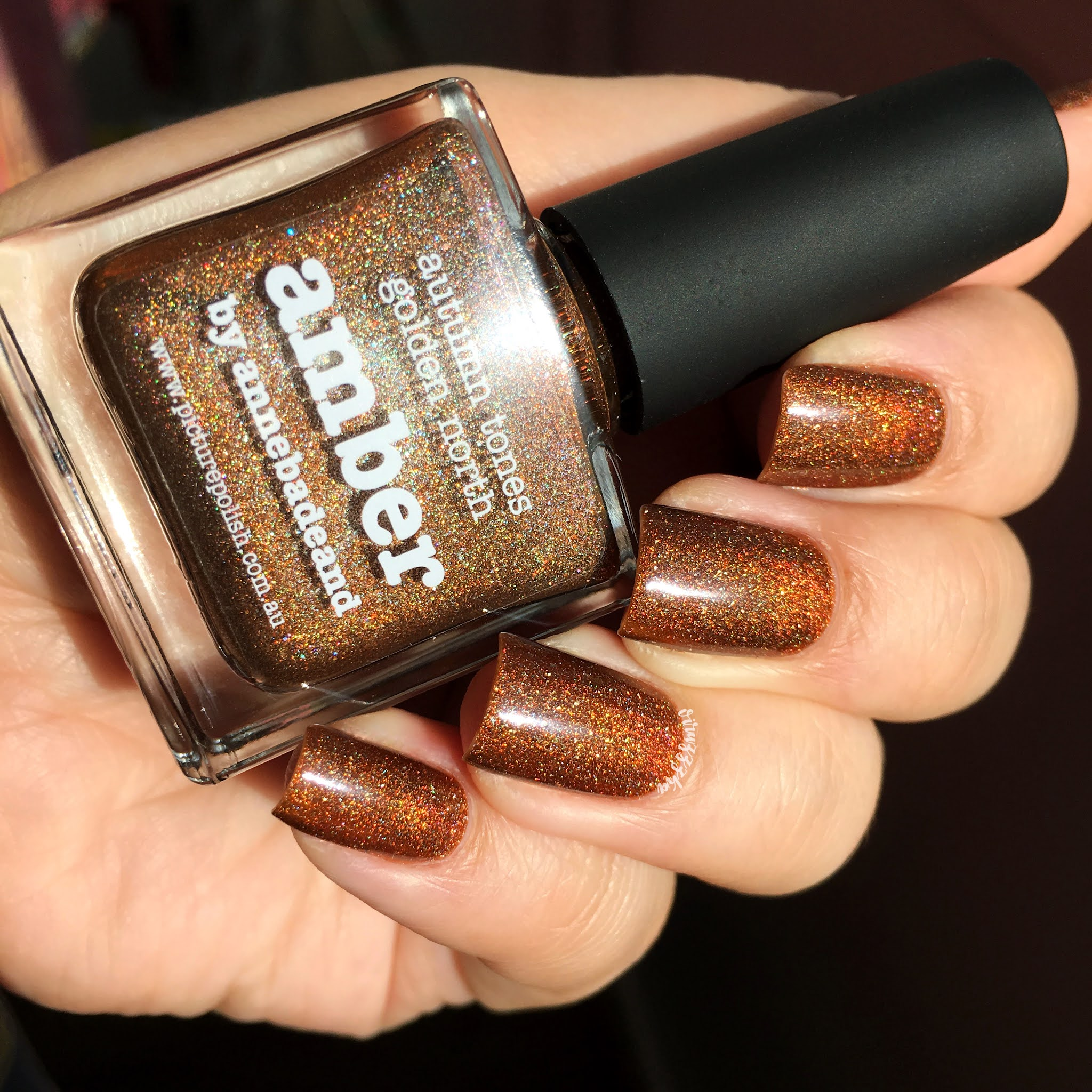 Picture Polish Amber Nail Swatch Autumn Brown Manicure Review