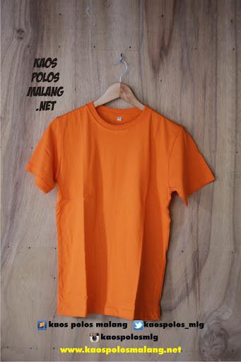kaos polos cowok orange malang