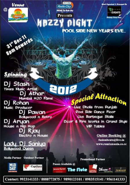 FB EVENTS : HAZZY NIGHT(Poolside New Year'S Eve 2012)