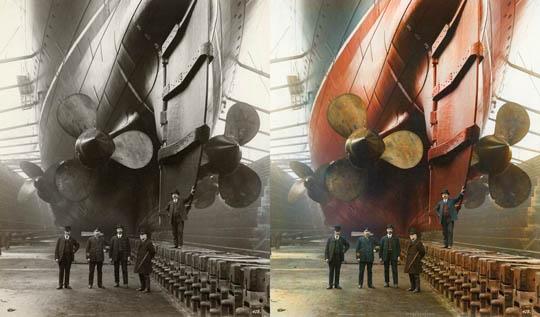 Канада док, Ливърпул, 1909 - Най-известните исторически черно-бели фотографии в цвят