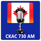CKAC 730 AM radio circulation icon