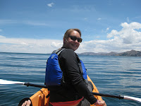 Kayaking on Lake Titicaca