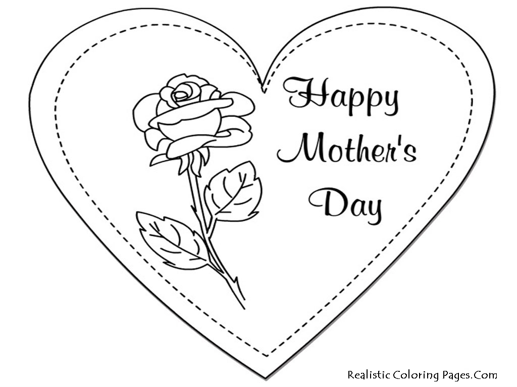 Best HD Mom Hearts Coloring Pages Images