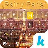 Rainy Paris Keyboard Theme