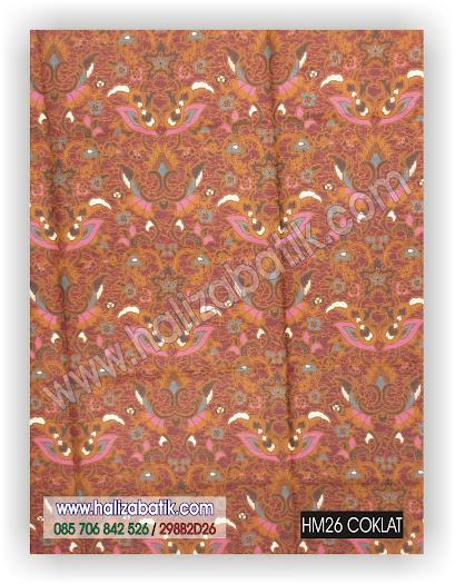Kain Batik, Baju Batik, Gambar Kain Batik, HM26 COKLAT