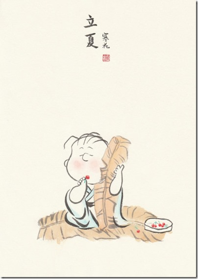 Peanuts X China Chic by froidrosarouge 花生漫畫 中國風 by寒花  07 Linus Summer 立夏