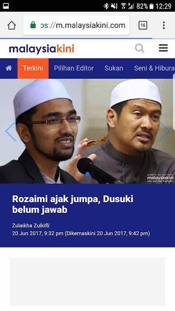 Ustaz Dusuki Ahmad: Malaysiakini media batu api