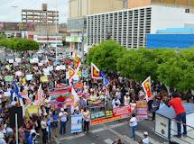 Patos realiza protestos contra cortes na educação pública