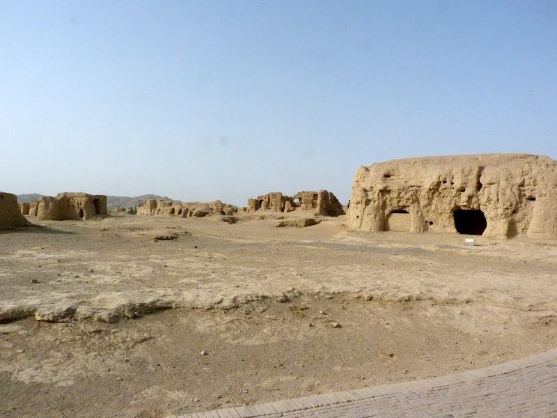 XINJIANG.  Turpan. Ancient city of Jiaohe, Flaming Mountains, Karez, Bezelik Thousand Budda caves - P1270766.JPG