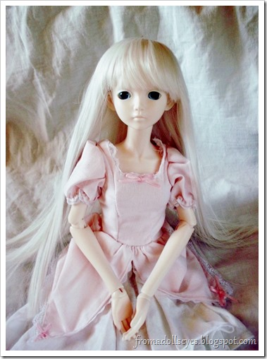 Ball Jointed Doll Trying Out Her New Wig Cap