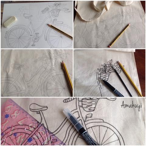 Tote-bag-pintada-a-mano-bicicleta-mint