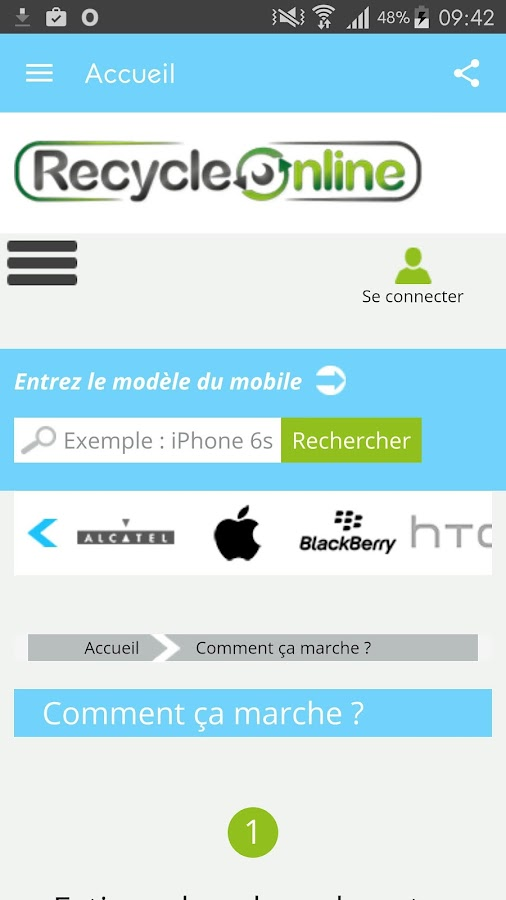 Recycle Online – Capture d'écran